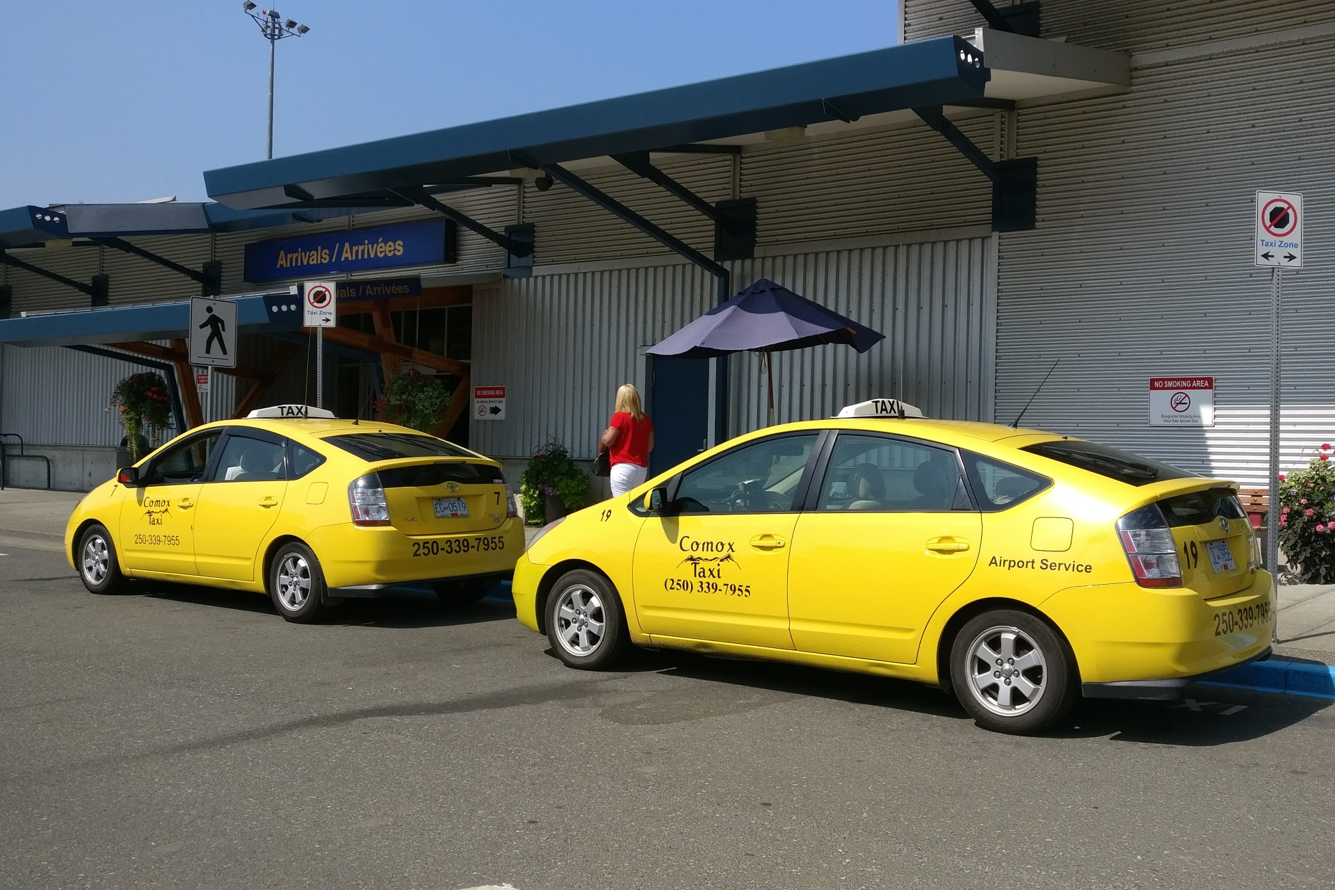 Taxis at airport